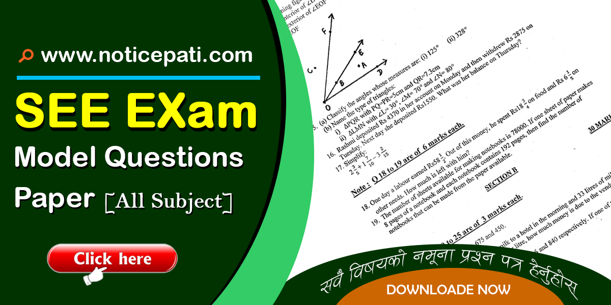 SEE exam question- Noticepati